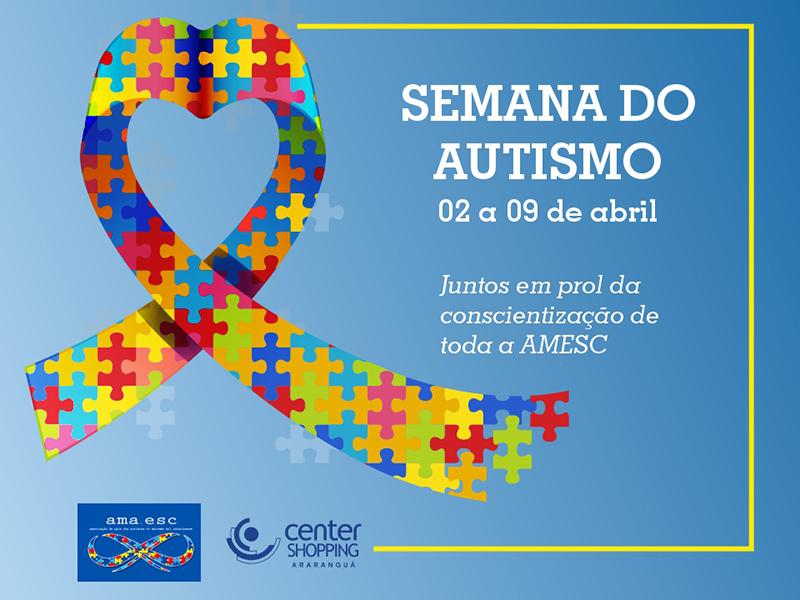 Center Shopping promove a Semana do Autismo em parceria com a associação AMA.ESC